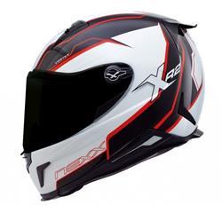 NEXX X.R2 Vortex Helm weiß/rot/schwarz