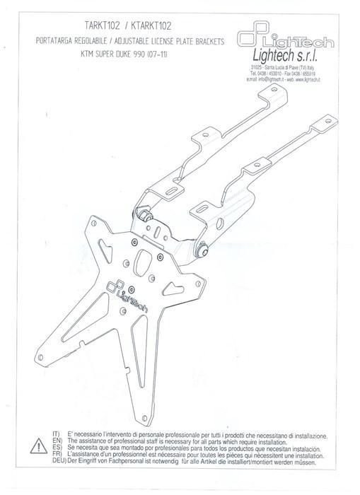 Ligh tech Kennzeichenträger KTM 990 - 1000PS Onlineshop ... Un L Wiring Diagram on