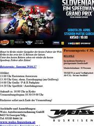 Bus zum Speedway GP Krsko 29.4.17