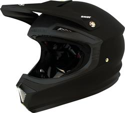 SHOT FURIOUS SOLID Helm matt schwarz S