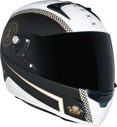 NEXX XR1R CAFÉ RACER schwarz/weiss/gold S