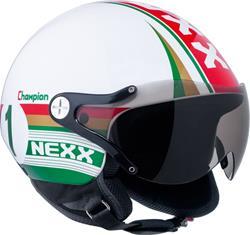 NEXX X60 CHAMPION weiss/grün/rot dekor L