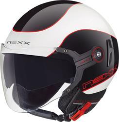 NEXX X60 MERCURE weiss glanz/rot/sw. XS