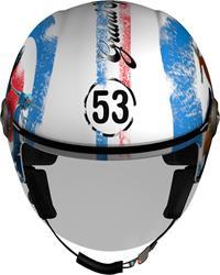 HELIX 3D LOGO 53 weiss/blau/rot dekor M