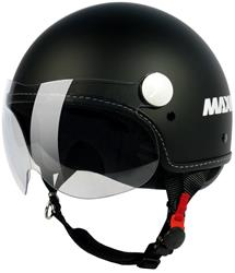 MAX P-MAX Demijet mit Visier matt schwarz L