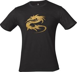 Bild von MADIF T-8163-MD T-Shirt schwarz/gold S