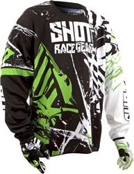 SHOT CONTACT BLOCK Jersey grün XL
