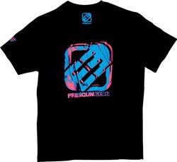 SHOT FREEGUN DRUMS T-Shirt sw./blau/pink M