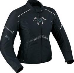 IXON DIVA STAR Damenjacke schwarz/weiss XL