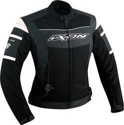 IXON PUMPKIN Damen Leder-Texiljacke schwarz/weiss XL