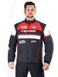 IXON CRONOS Jacke schwarz/rot/weiss XL