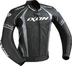 IXON FAMOUS Lederjacke schwarz/silber XL