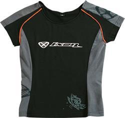 IXON PADDOCK LADY T-Shirt sw./anth./orange L