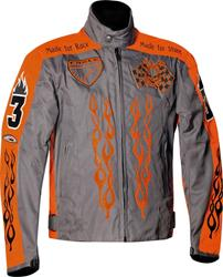 SPIDER HOT ONE Tex-Jacke grau/orange M