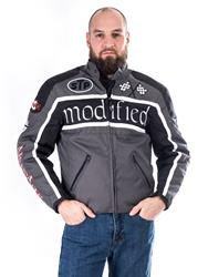SPIDER MODIFIED Tex-Jacke grau/schwarz M