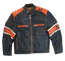 SPIDER MOTORCYCLE Lederjacke braun stone/orange XXL