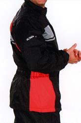 DIFI SEISMO Regenjacke schwarz/rot XXL