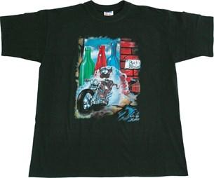 Bild von T-Shirt RAT FLASCHE mit Druck schwarz M