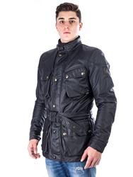 BELSTAFF CLASSIC TOURIST TROPHY Textiljacke 10OZ-Wax schwarz XL/52