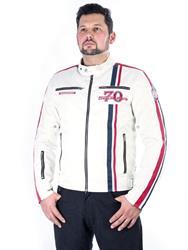SEGURA STRIKE Textiljacke beige/rot/blau XL