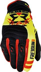 SHOT FREEGUN CONTACT TROOPER Handschuhe schwarz/neon gelb/rot 08