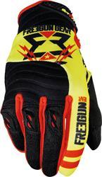 SHOT FREEGUN CONTACT TROOPER Handschuhe schwarz/neon gelb/rot 12