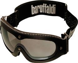 BARUFFALDI MAF Brille Lederrahmen schwarz 70842 klar + versp.Glas