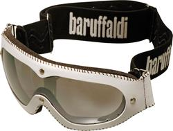 BARUFFALDI MAF Brille Lederrahmen weiss 70843 klar + versp.Glas