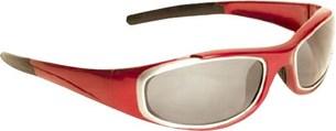 Bild von BARUFFALDI TAEG Brille rot mit l.get/getöntes/silb. versp. Glas