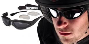 Bild von BARUFFALDI WINDTINI F Brille schwarz inkl. get.+gelbes Glas