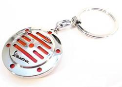 VESPA HUPE Schlüsselanhänger chrom/rot