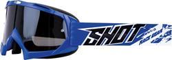 SHOT CHASE Brille blau/leicht versp.+antifog Glas