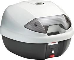 KAPPA TOP-CASE K30B mit getönten Reflektoren weiss/schwarz 30L