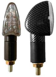 BIKE IT MINIBLINKER PFEIL LED 2cm Schaft carbon/Glas klar