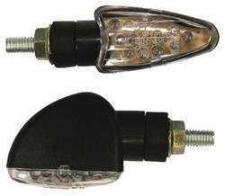BIKE IT MINIBLINKER PFEIL LED 2cm Schaft schwarz/Glas klar