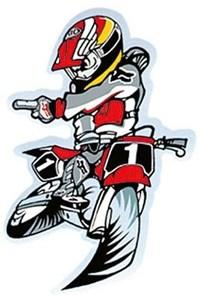 Bild von MM Aufkleber MOTO CROSS 8x11cm