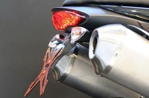 Bild von EVOTECH ESTR-0705 Triumph Speed Triple 2011 Kennzeichenhalter öster. schwarz