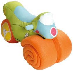 BOOSTER Motorbike TT Stoff m. Babydecke orange/grün 28,5cm
