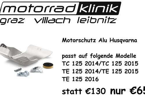 Motorschutz ALU Husqvarna statt €130.- nur €65 .- TC 125 2014/TC 125 2015/TE 125 2014/TE 125 2015/TE 125 2016