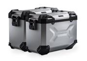 TRAX ADV Alukoffer-System. Silbern. 45/45 l. Kawasaki Versys 1000 (15-).