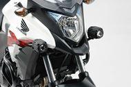 SW-MOTECH Scheinwerfer-Halter. Schwarz. Honda CB500X (13-18).