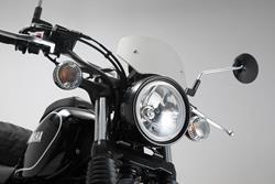 Windschild. Silbern. Yamaha SCR 950 (16-).