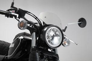 Bild von Windschild. Silbern. Yamaha SCR 950 (16-).