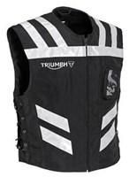 Triumph Motorcycles Black Bright Vest Warnweste MFNS16523