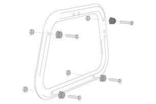 Bild von Adapterkit für EVO Kofferträger. Für AERO ABS Seitenkoffer. Montage von 2 Koffern.