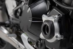 Motorgehäusedeckel-Schutz. Schwarz/Silbern. Kawasaki Z900 (16-)/Z900RS (17-).