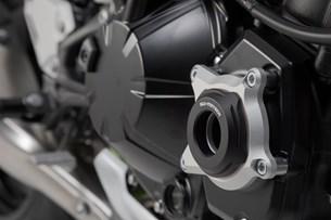 Bild von Motorgehäusedeckel-Schutz. Schwarz/Silbern. Kawasaki Z900 (16-)/Z900RS (17-).