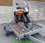 Absenkanhänger für große Motorräder zu vermieten Raum Linz und Raum Amstetten - JETZT AUCH MIT PLANE!!!