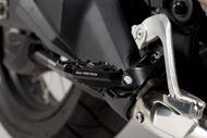 SW-MOTECH Fußrastenverbreiterung. Schwarz. Honda CRF 1000L / Adv Sports (18-).