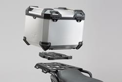 TRAX ADV Topcase-System. Silbern. Honda NC700S/X (11-14),NC750S/X (14-15).